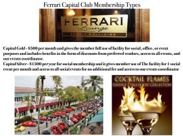Memberhips