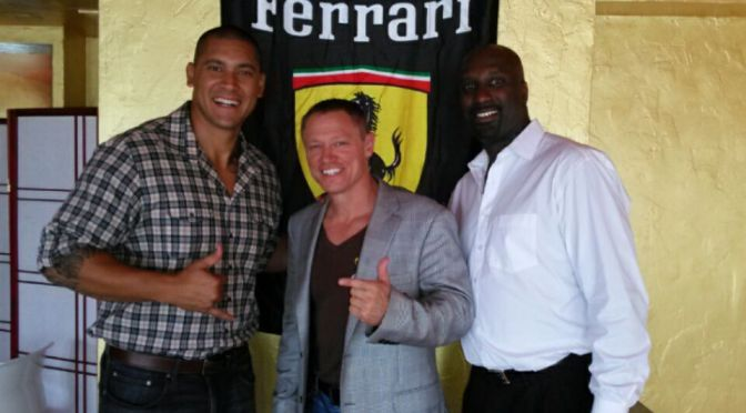 Retired NFL Stars Visit the Ferrari Capital Club in Support of Drug Free Collier County