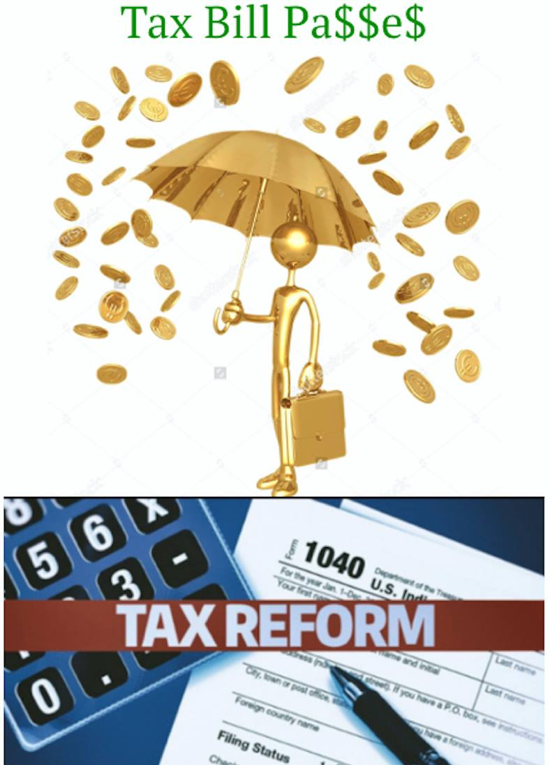 Tax Bill Passes and its Raining Money